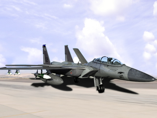 F15 Fighter Aircraft 3d rendering