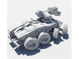 Sci-Fi Tank 3d model preview