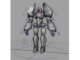Futuristic Humanoid Robot Rig 3d preview
