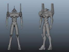 Evangelion Eva Unit 3d preview