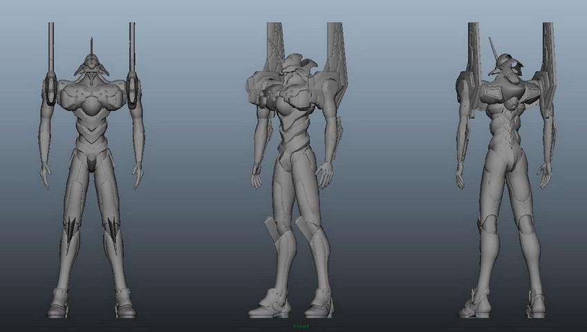 Evangelion Eva Unit 3d rendering