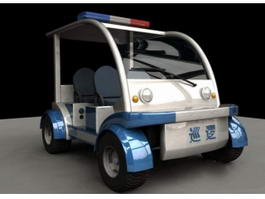 Electric Police Car 3d preview