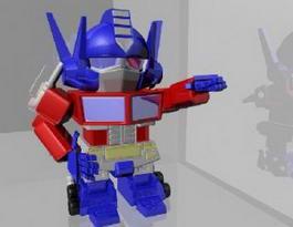 Cartoon Transformers Prime 3d model preview