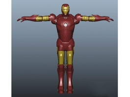 Iron Man 3d model preview