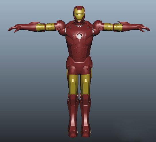 Iron Man 3d rendering