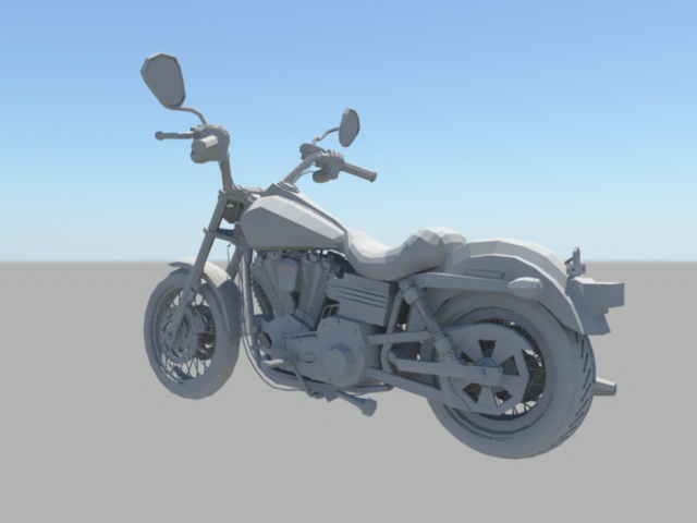 Sports Motorcycle 3d rendering