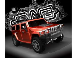 Hummer H3 3d preview