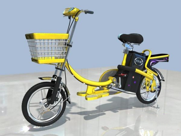 Electric Bicycle 3d rendering