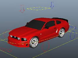 Red Car Rig 3d preview