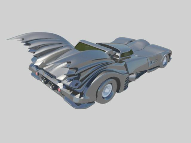 Batmobile Car 3d rendering