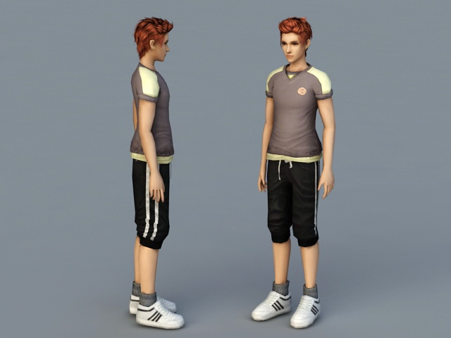 Handsome Guy 3d rendering
