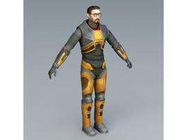 Half-Life Gordon Freeman 3d preview