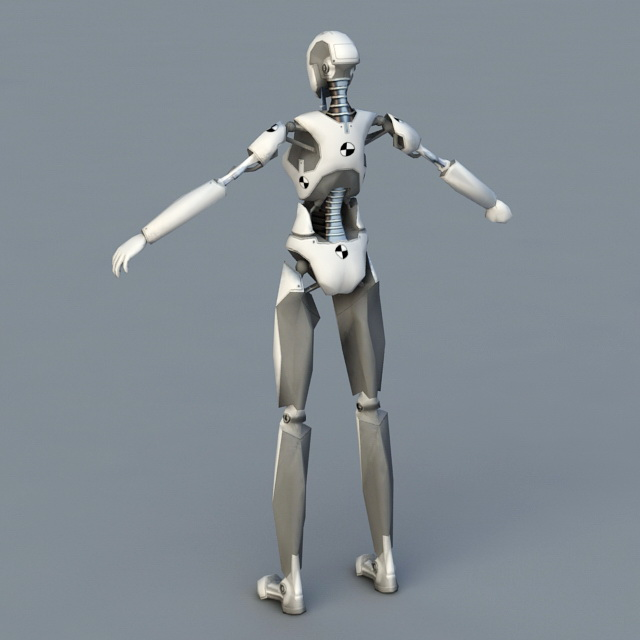 Android Female Robot 3d rendering
