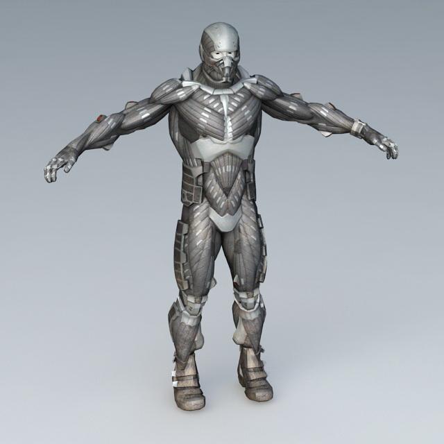 Sci-Fi Armor 3d rendering