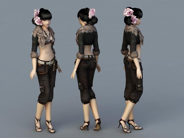 Beautiful Girl 3d rendering