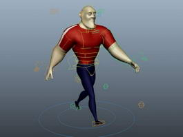 Animated Man Cartoon 3d preview