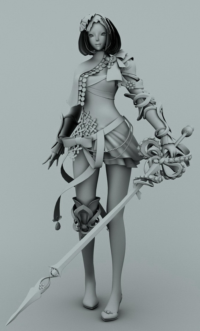 Witch Goddess 3d rendering