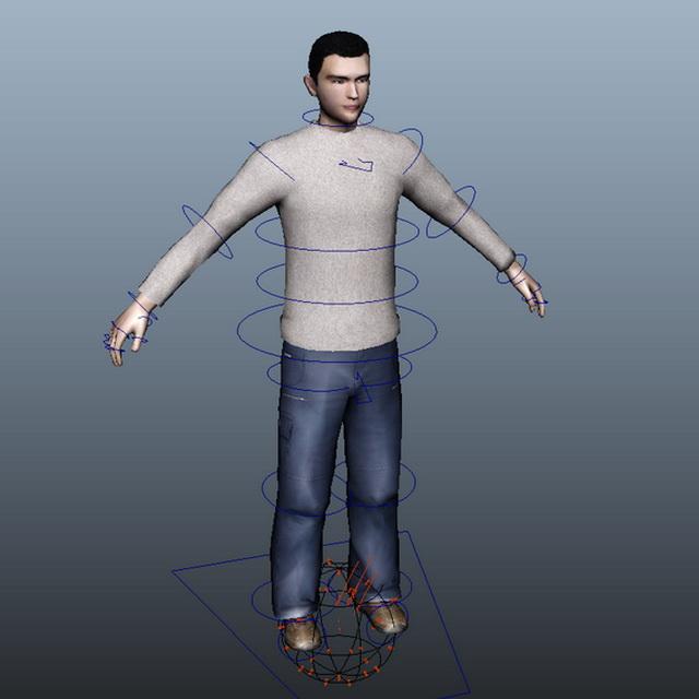 Casual Man Rig 3d Model Maya Files Free Download