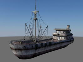 Fishing Vessel Ship 3d preview