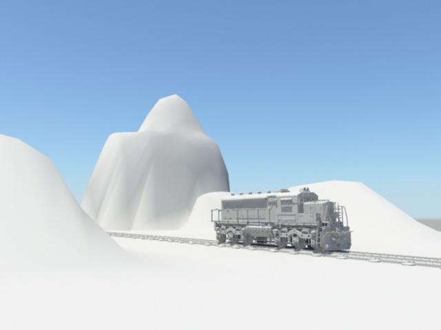 Old West Train 3d rendering