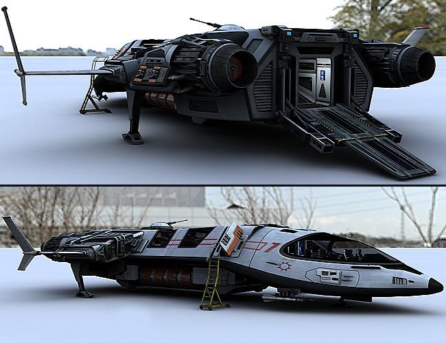 Sci Fi Starship 3d model Maya files free download