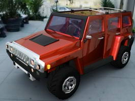 Red Hummer 3d preview