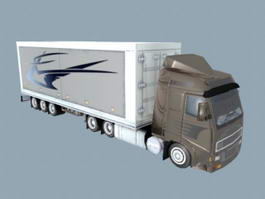 Volvo Box Truck 3d preview