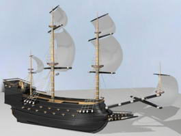 Ancient Warship 3d model preview