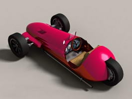 Antique 3 Wheel Car 3d preview