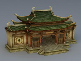 Chinese Ancestral Hall 3d preview