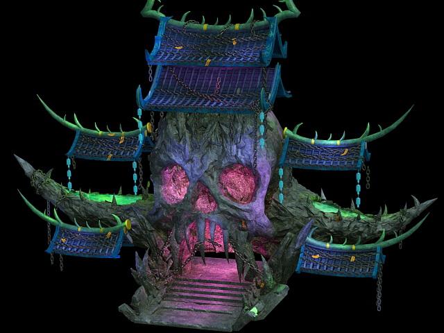 Demon Tower building 3d rendering