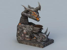 Demon Statue 3d preview