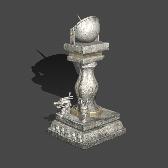 Ancient Chinese Sundial 3d rendering