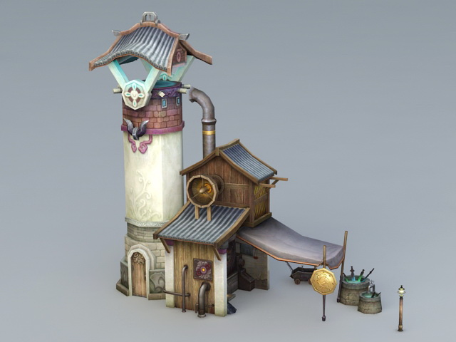 Blacksmith Forge 3d rendering