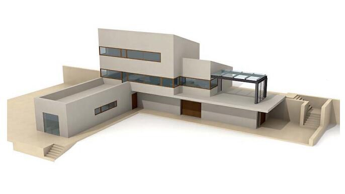 Small Country Villa 3d rendering