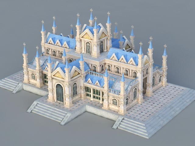 Catholic Church 3d rendering