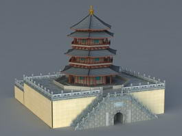 Chinese Pagoda 3d preview