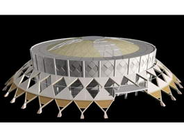 Modern Stadium Architecture 3d model preview