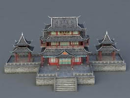 Ancient Chinese Architecture 3d preview