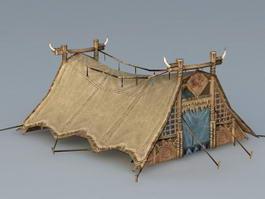 Roman Leather Tent 3d preview