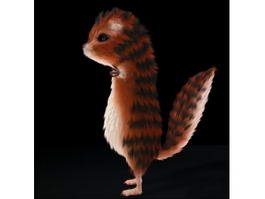 Cute Squirrel 3d preview