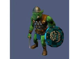 Orc Warrior Rig 3d preview