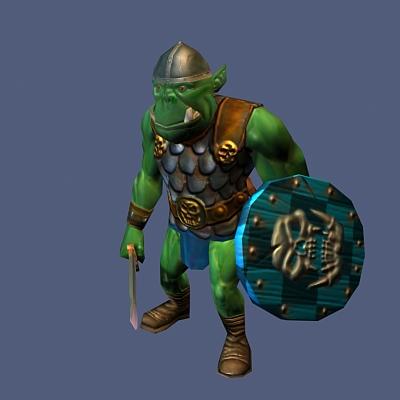 Orc Warrior Rig 3d rendering