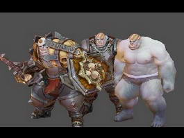 Half Orc Warrior 3d preview