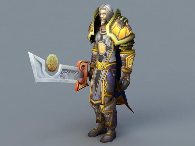 Highlord Tirion Fordring 3d rendering