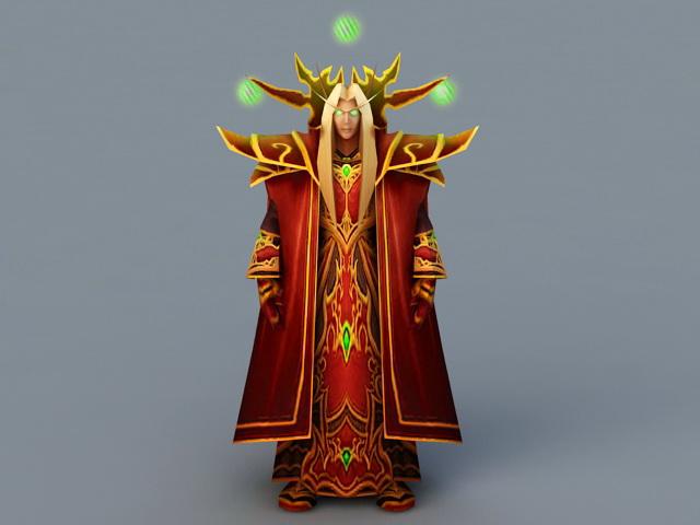 Prince Kaelthas Sunstrider 3d rendering