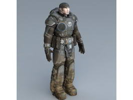 Futuristic Soldier Rig 3d preview