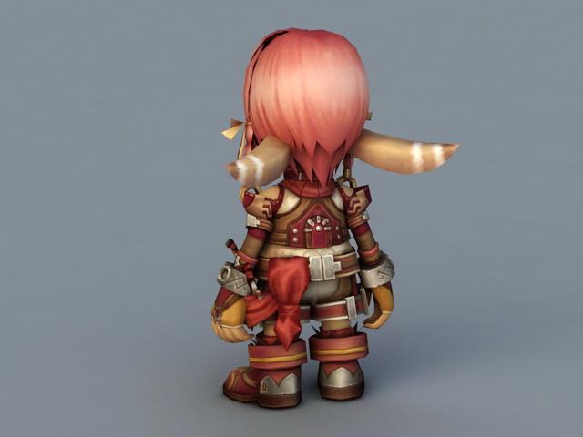 Chibi Elf Girl 3d rendering