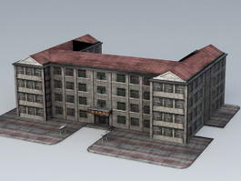 Old School Building 3d preview