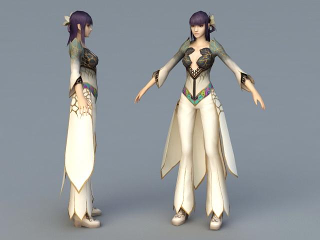 Oriental Princess 3d rendering